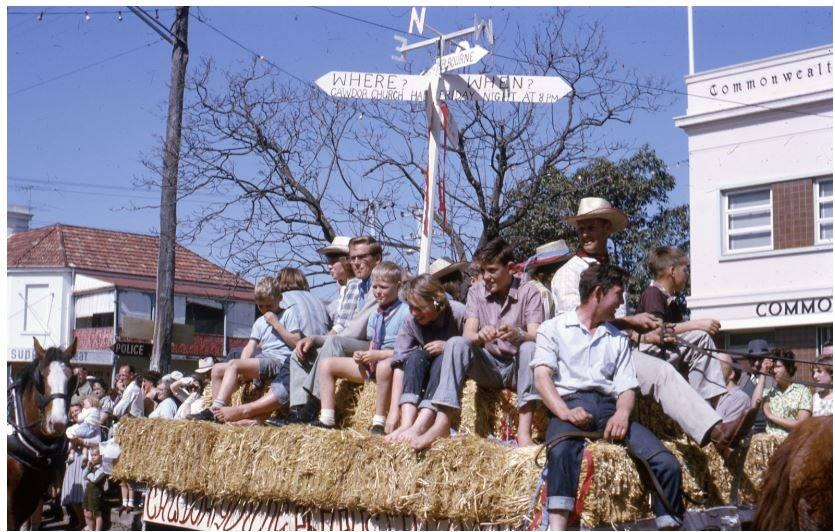 Camden Rose Festival 1968 Vic Boardman drive horse team CIPP
