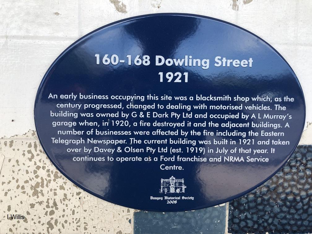 Dungog Davey&Olsen Historic Plaque 2018