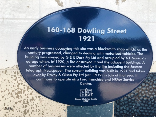 Dungog Davey&Olsen Historic Plaque 2018