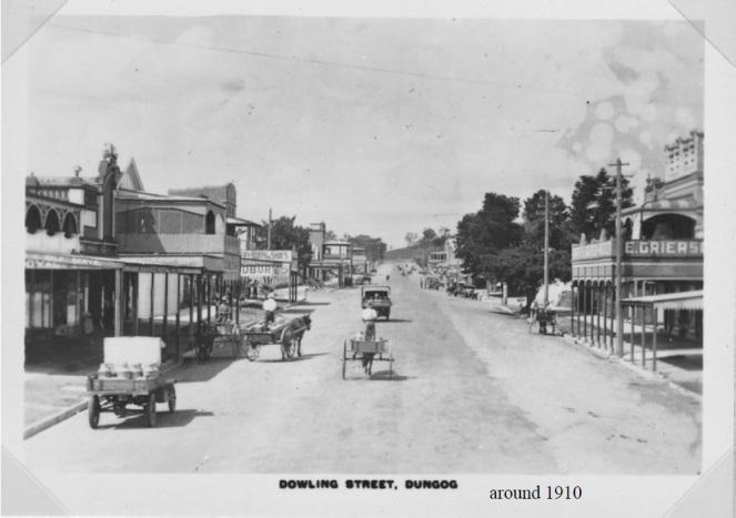 Dungog Dowling Street 1910 MWilliams