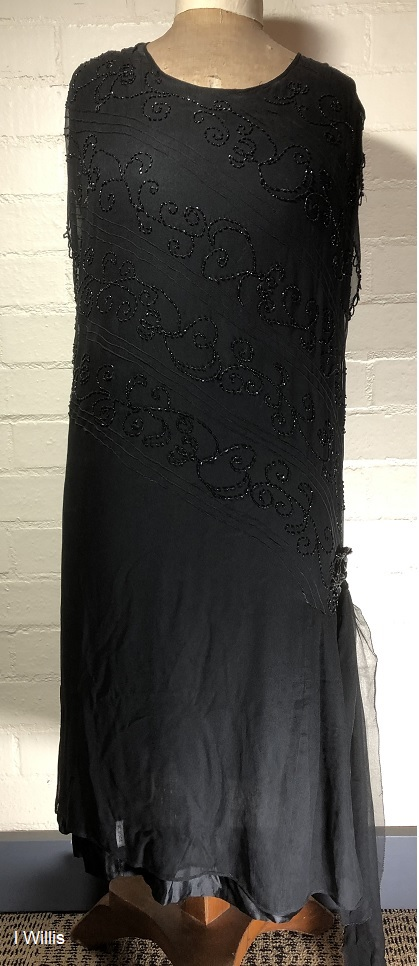 Camden Museum Mrs Wilsons black dress mid-1920s IW 2019
