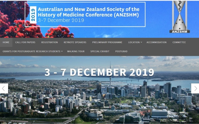 ANZHSM 2019 Conference Uni of Auckland Screenshot