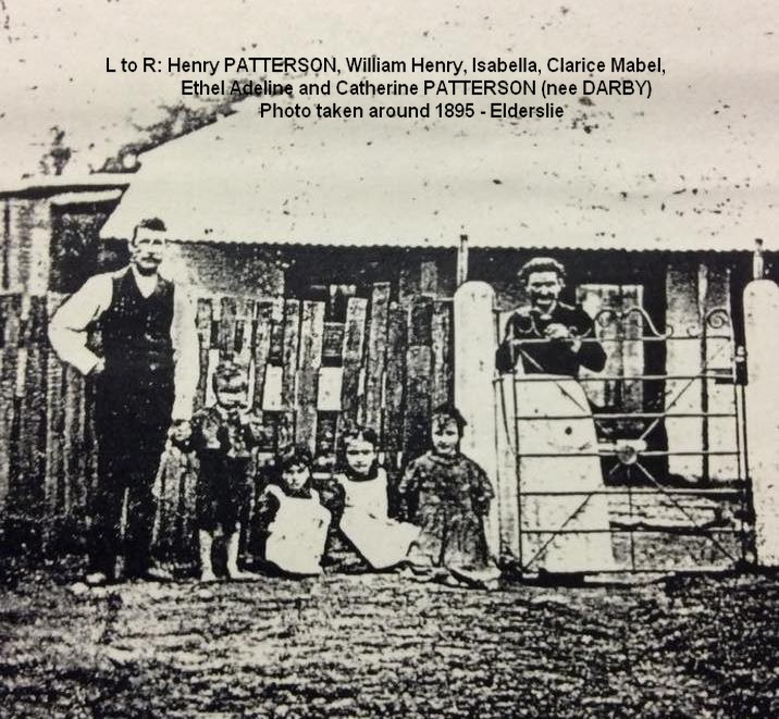 Henry Paterson and Pop with family Elderslie 1895 (MPatterson)