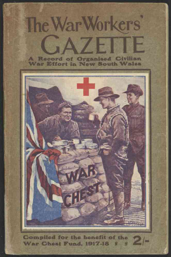 War Workers Gazette Cover 1918 nla.obj-38842598-1 lowres