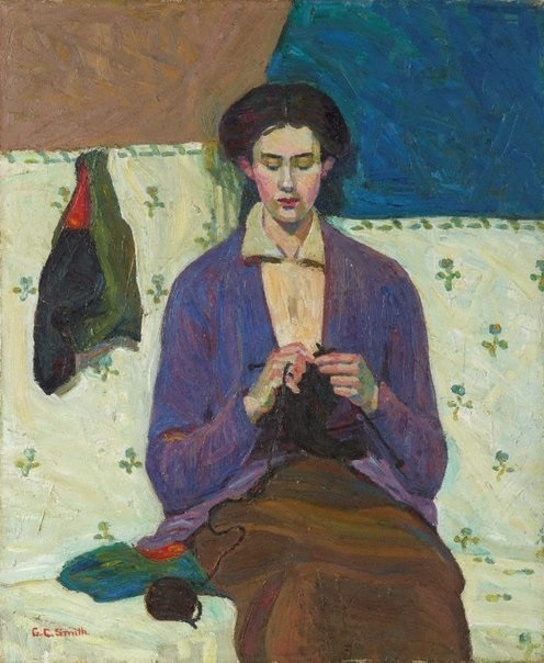 Art AGNSW The Sock Knitter Grace Cossington Smith 1915
