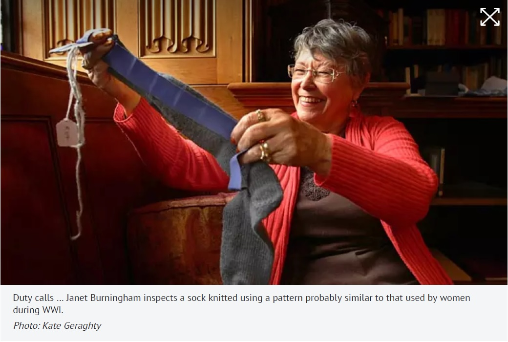 First World War Knitted Socks reproduction 2012 Fairfax