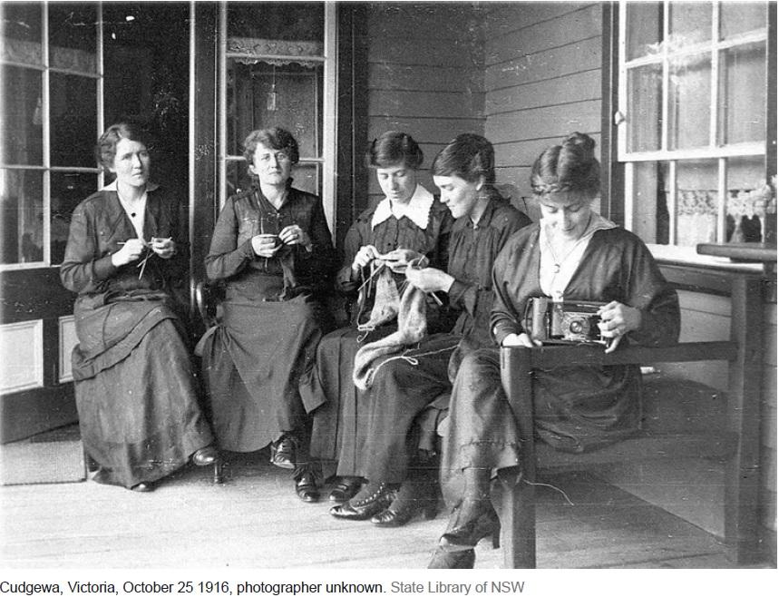 First World War Sock knitting Cudgewa 1916 SLNSW