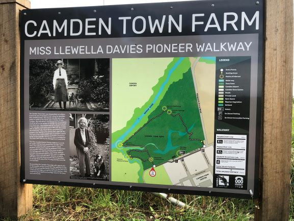 Camden Town Farm Miss Llewella Davies Pioneers Walkway Information Sign 2020 IW lowres