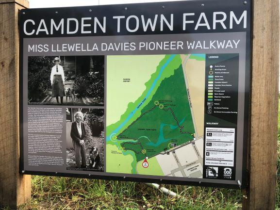 Camden Town Farm Miss Llewella Davies Pioneers Walkway Information Sign 2020 IW lowres