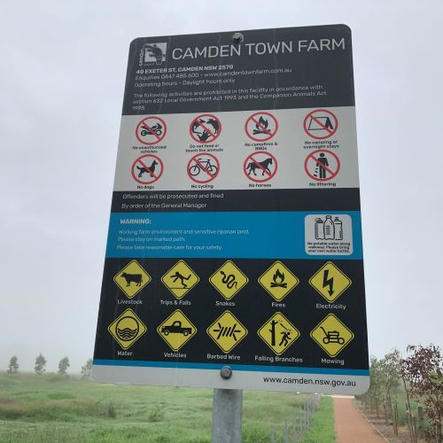 Camden Town Farm Miss Llewella Davies Pioneers Walkway Warning Do Not Sign 2020 IW lowres