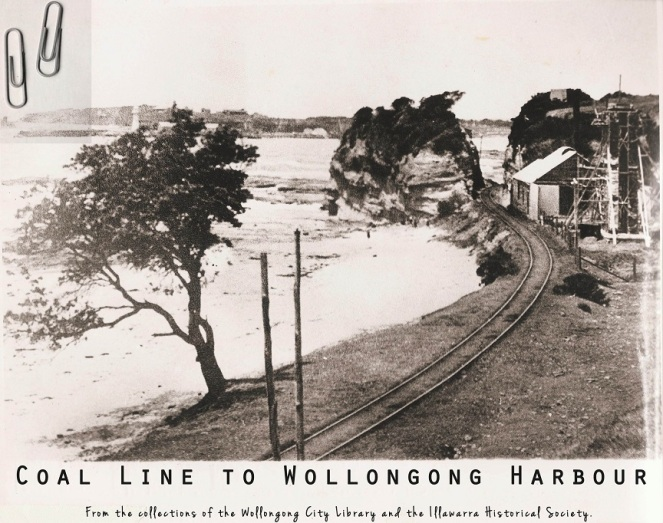 Wollongong Mount Pleasant Colliery Railway below cliff line 1900s WCL&IHS lowres
