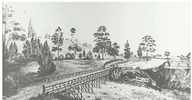 Camden Cowpastures Bridge 1842 Thomas Woore R.N. of Harrington Park CIPP