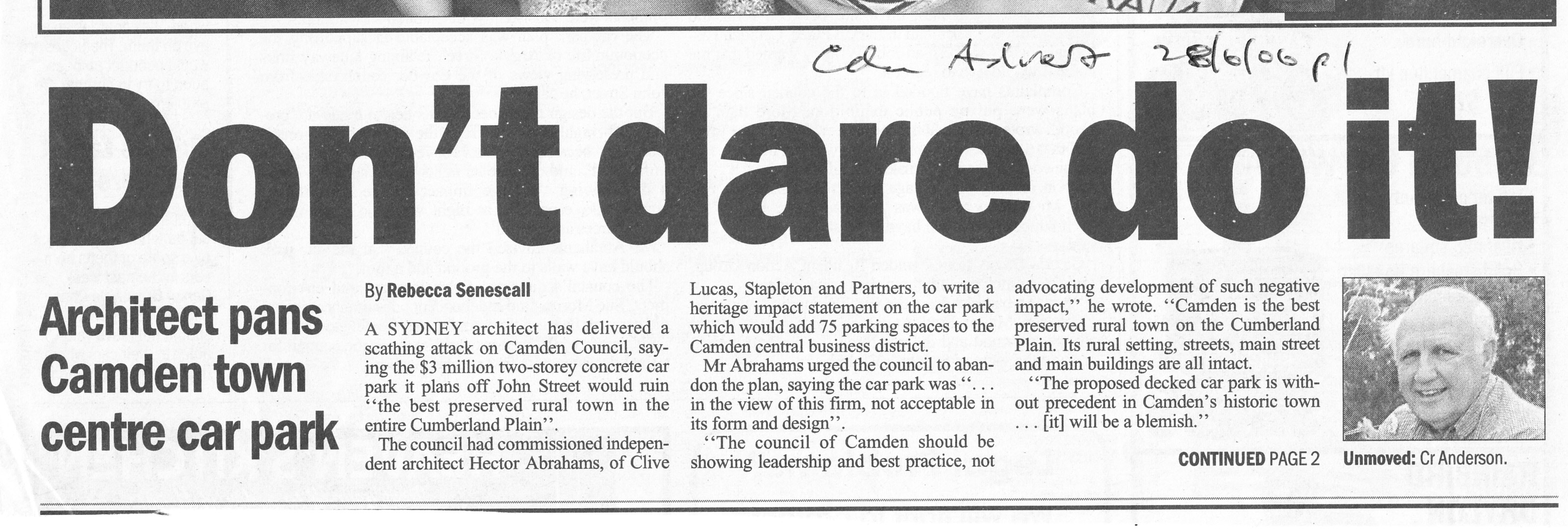 Hector Abrahams -best preserved- Camden Advertiser 2006 Jun28