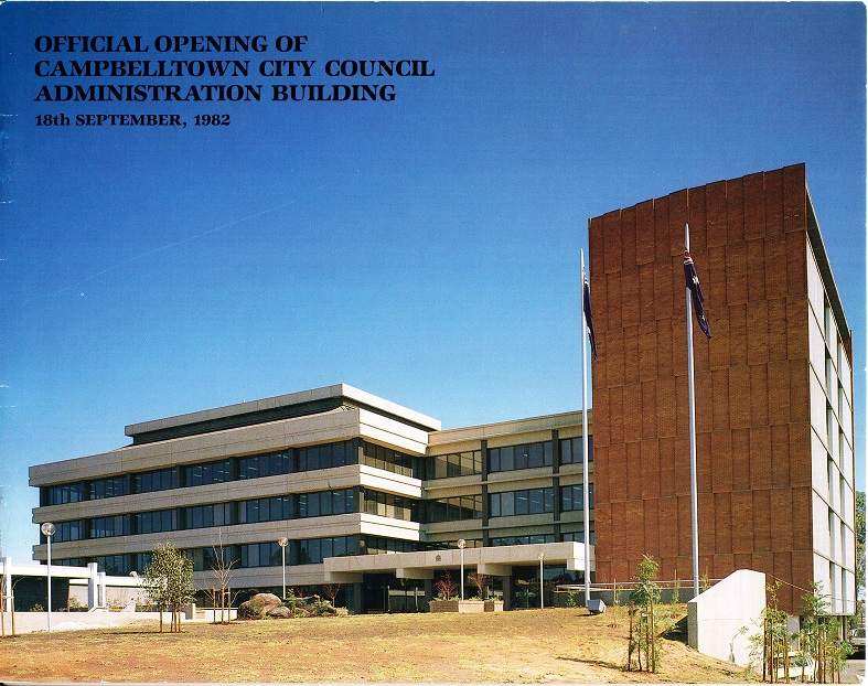 Campbelltown Council Admin Building Open 1982Sept16 Cover lowres