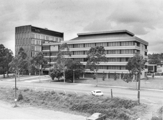 Campbelltown Council Admin Buildings 1964 & 1982 Photographer John Nobley CCL 1983